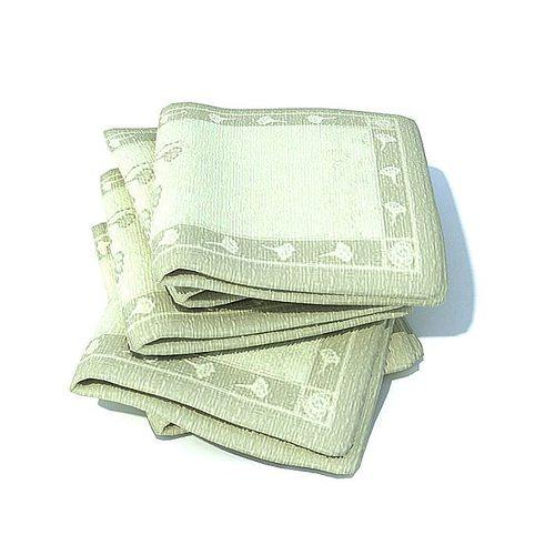 green patterned towels folded 3d model  1