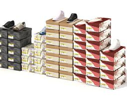Shoe Boxes And Shoe Display 3D model