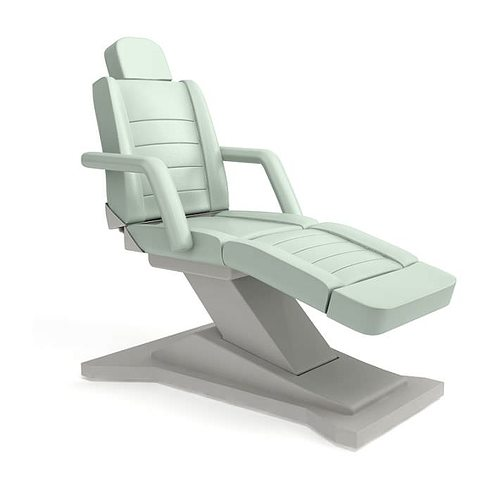 Merveilleux White Modern Beauty Parlor Chair 3D Model