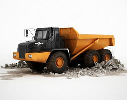 Black And Yellow Industrial Dump Truck 3D model