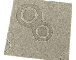 3D Ornamental Beige Carpet