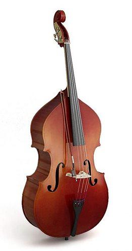wooden bouble bass 3d model obj mtl 1