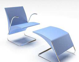 Modern reclining leather sofa 3d model cgtrader com - Footrest 3d Models Download 3d Footrest Files Cgtrader Com