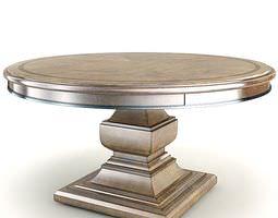 3D model Elegant Antique Pedestal Table