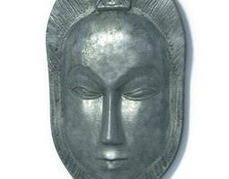 3D Antique African Tribal Mask