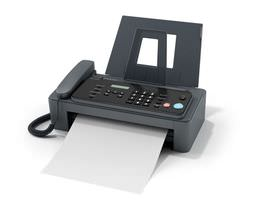 Fax Machine With Telephone 3D model