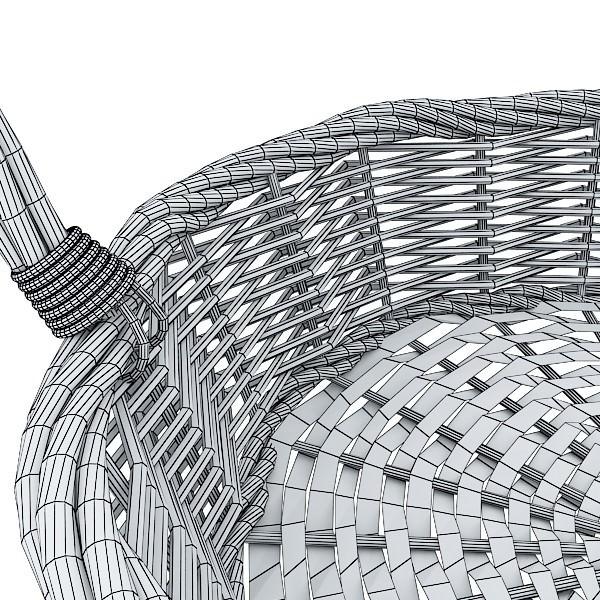 Woven Basket Building : Wicker basket d model max obj ds fbx cgtrader