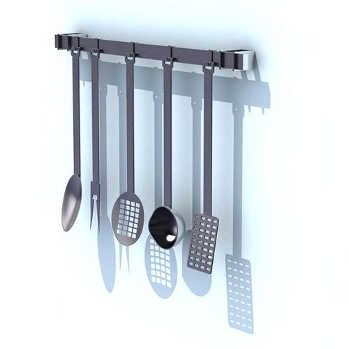 Kitchen Utensil Rack With Tools 3D | CGTrader