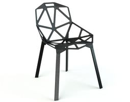 Black Modern Style Chair 3D model