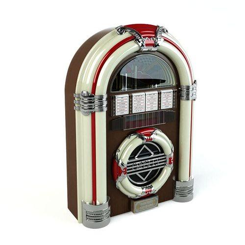retro classic jukebox 3d model obj mtl 1