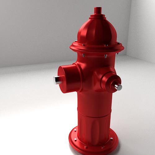 fire hydrant 3d model 3ds fbx blend dae 1