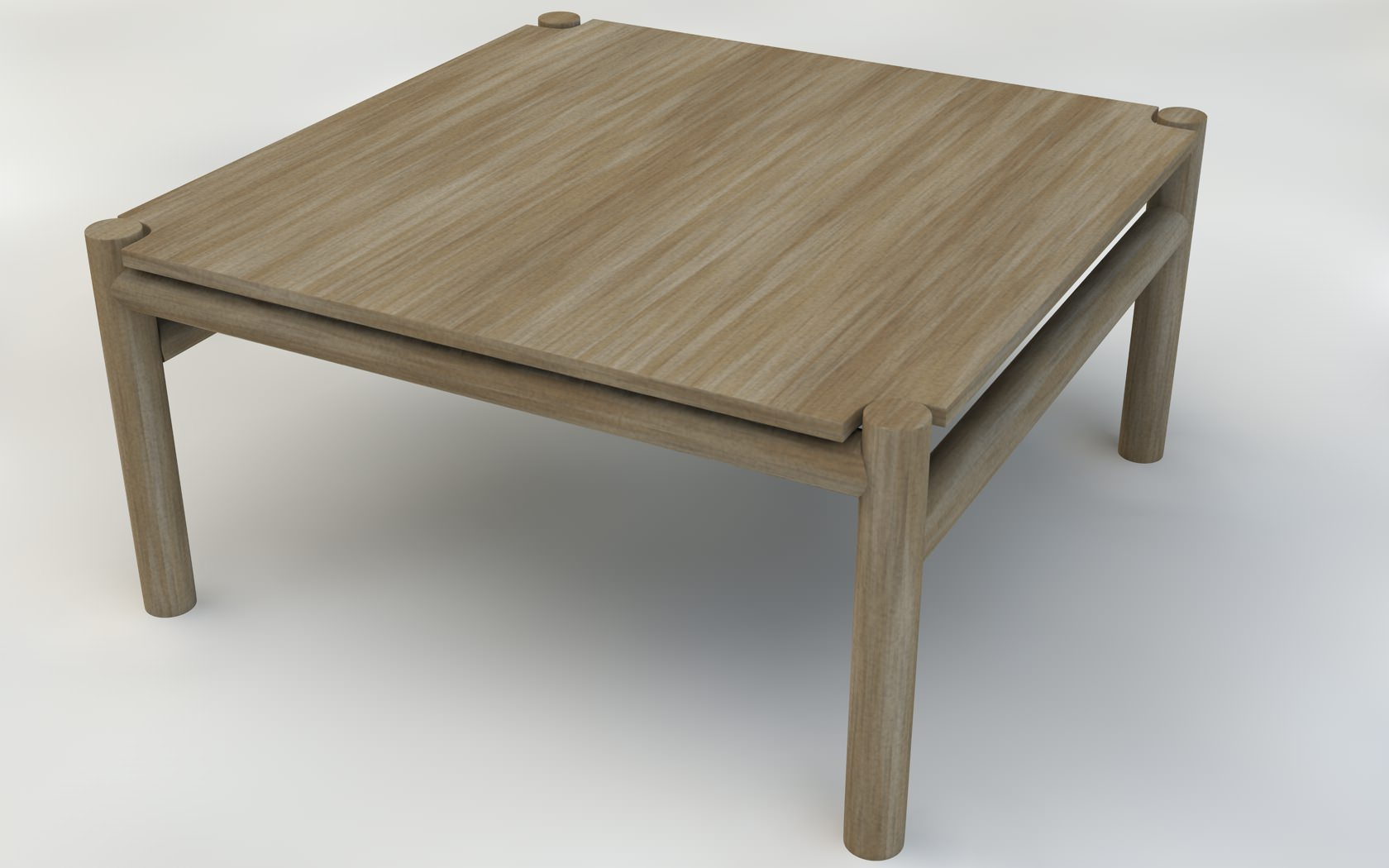 Wooden coffee table 3d model obj c4d for Coffee table 3d model