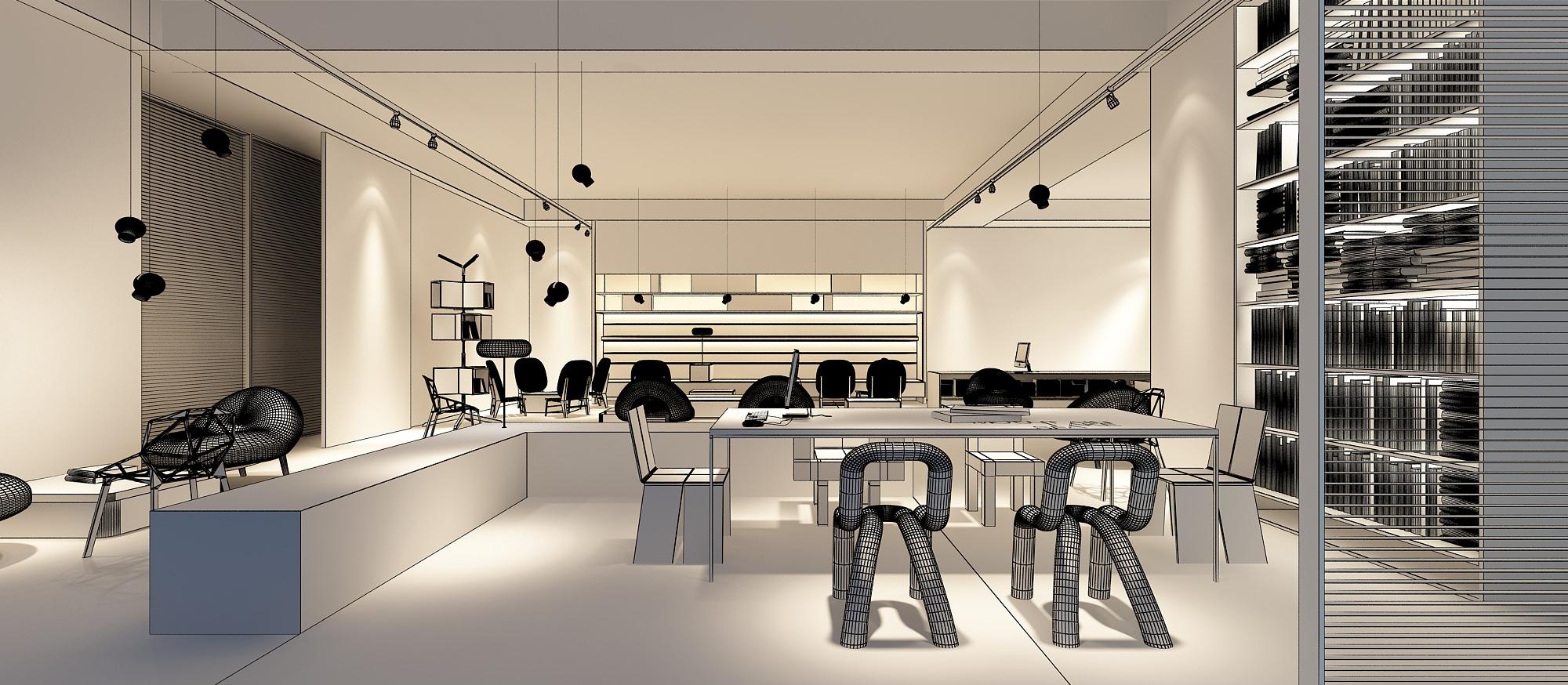 3D Models detailed office showroom | CGTrader