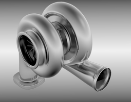 3D model Animated turbo