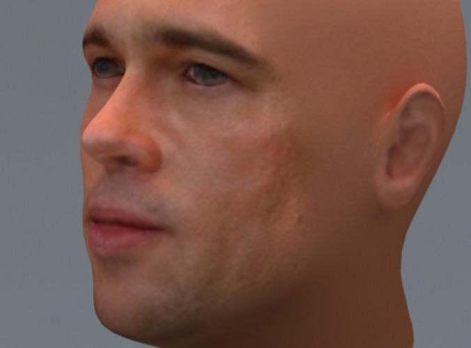 Brad Pitt 3d Model Max 3ds Cgtrader Com