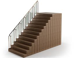 Metal Walled Handrail 3D model