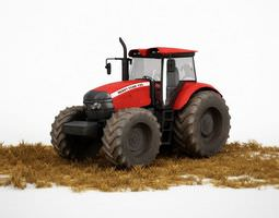 Red Tractor For Farming 3D