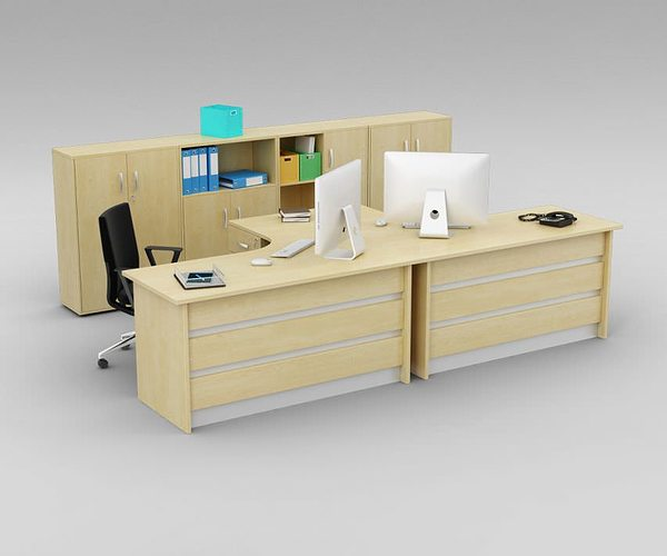 Office desk cabinets Wall Mounted Cabinet Wholesalers Two Person Office Desk With Matching Cabinets 3d Model Obj Mtl
