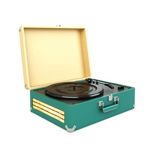 phonograph turntable for records 3d model obj 1