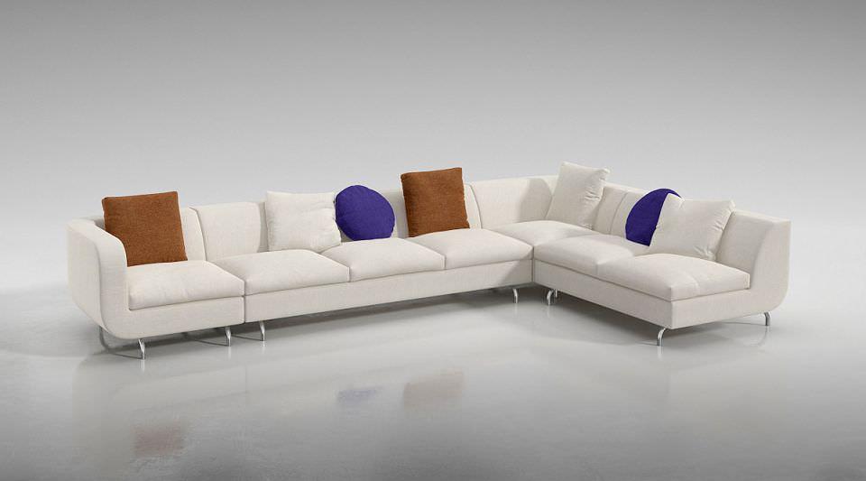 Modern Large Sofa Furniture 3d Model Obj 1
