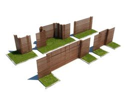 Brown Privacy Fencing 3D Model