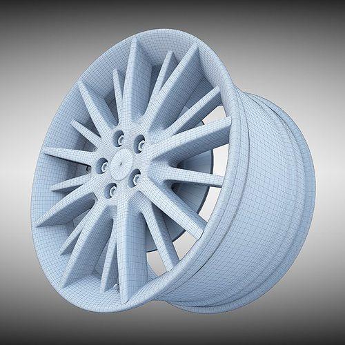 Maserati quattroporte gt s wheel 3d model max obj 3ds for Porte 3ds max