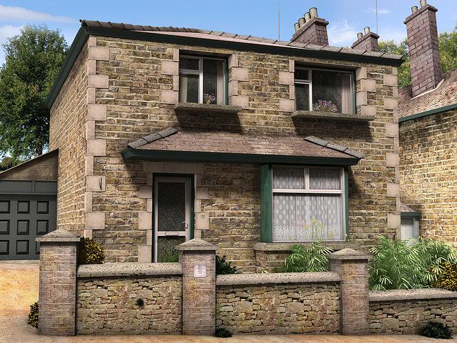 rural village 3d model max obj mtl 3ds fbx c4d ma mb 1
