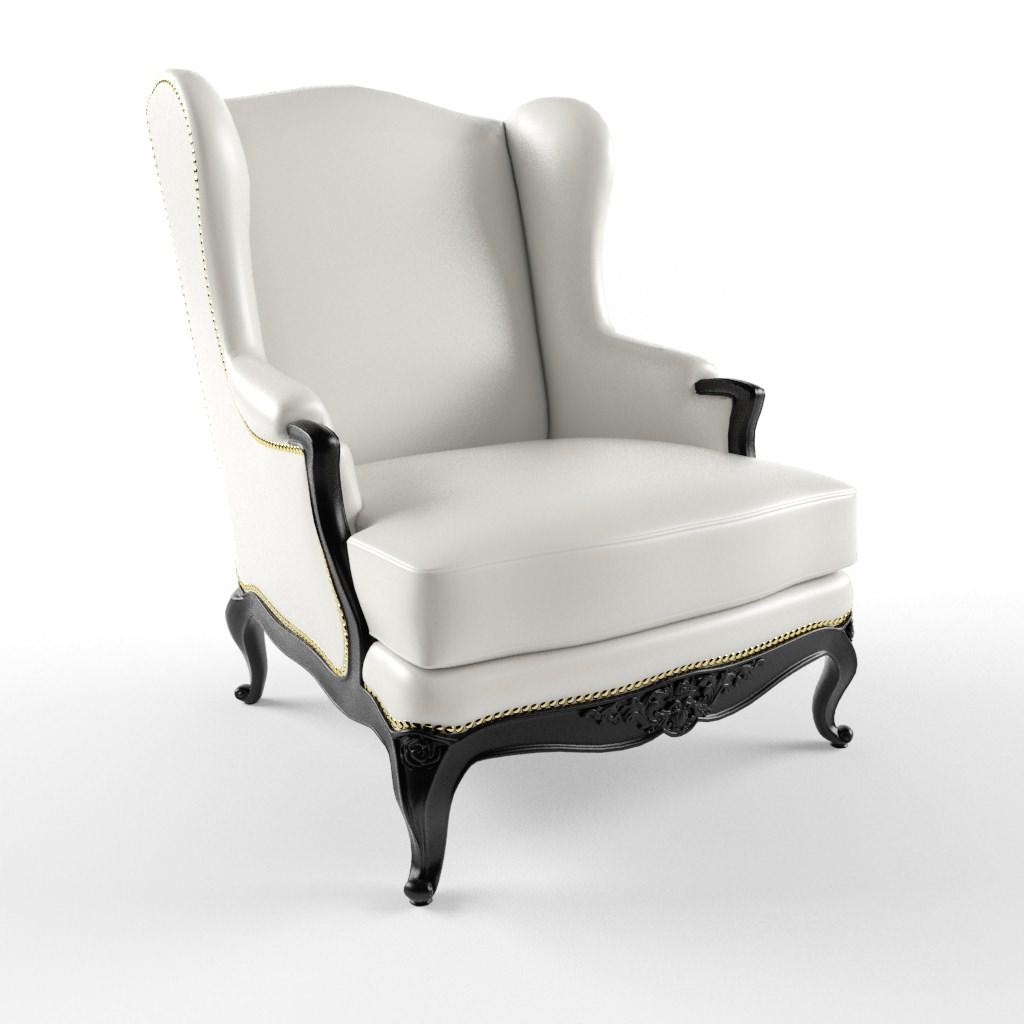John Hutton Baron Wing Chair 3d Model Max 1 ...
