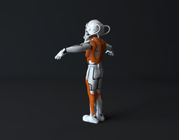 3d model game-ready robotic exoskeleton