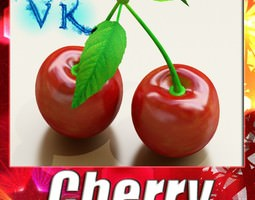 Photorealistic Cherries High Res 3D model