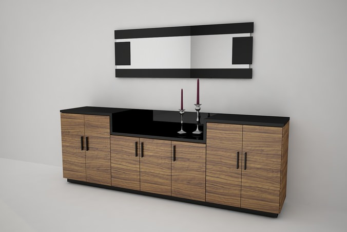 3d model sideboard cgtrader for Sideboard 3d