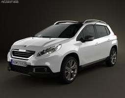 3D model Peugeot 2008 2013