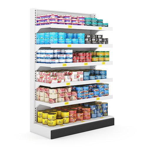 supermarket shelf 3d model max obj fbx c4d mtl 1