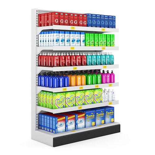 3d Supermarket Shelf Cgtrader