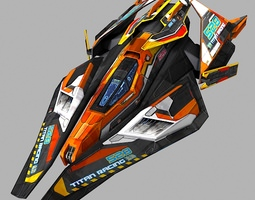 SciFi Racing-Ship 02 3D model