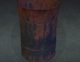3D asset Rusty barrel