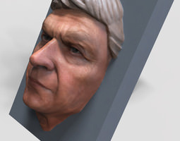 Human Face 3D printable model