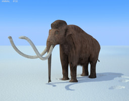 3d model low-poly mammoth mammuthus