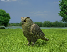 eurasian eagle-owl bubo bubo 3d model max obj 3ds fbx c4d lwo lw lws