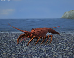 game-ready 3d asset spiny lobster palinuridae