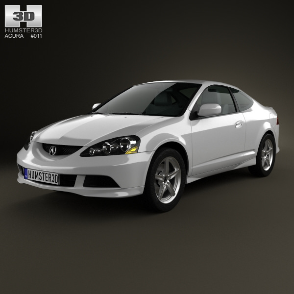 Acura Rsx Type S Acura Tsx: Acura RSX Type-S 2005 3D Model MAX OBJ 3DS FBX C4D LWO LW