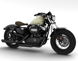 3d model harley-davidson xl1200 sportster forty-eight 2014