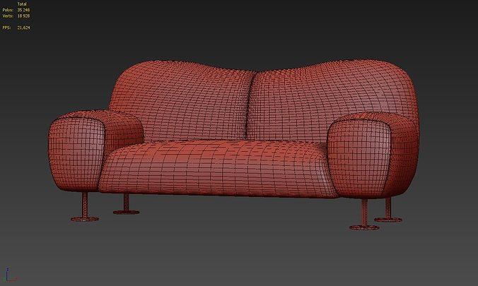 3D Sofa Rossi di albizzate Gea GA 182 | CGTrader