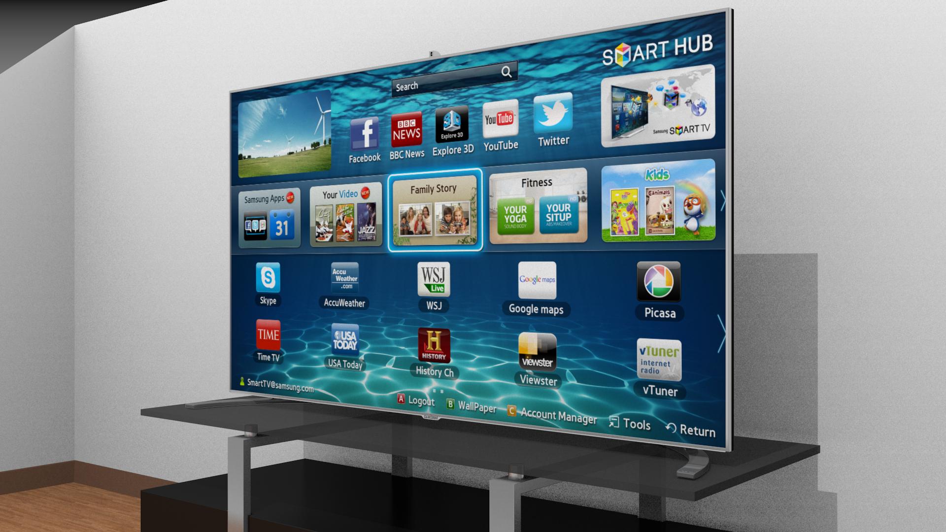television 3d png samsung smart tv 3d model obj fbx blend dae mtl 1