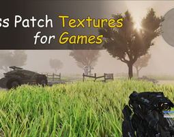 3D model Grass Patch Textures for Games