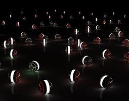 3D glow spheres with light setup