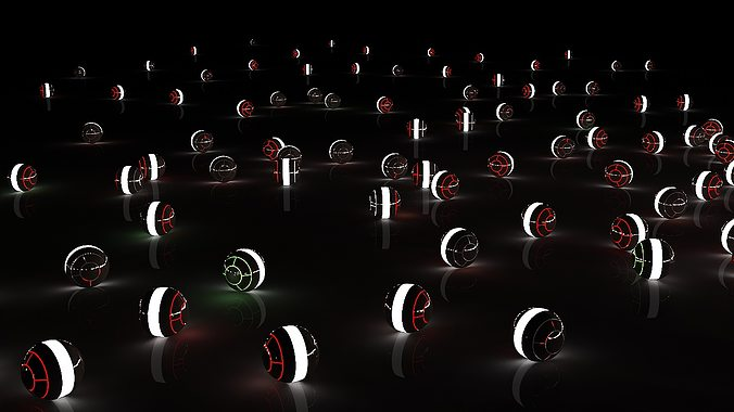 glow spheres with light setup