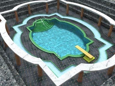 3d Inground Swimming Pool Cgtrader