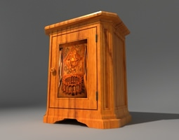 inlaid french console 3d model