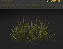 Cattail Grass Texture 3D model